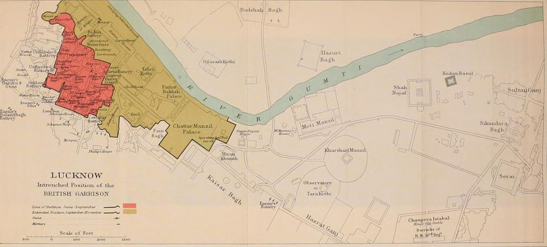 1200px-Lucknow_Intrenched_Position_of_the_British_garrison_map_1911