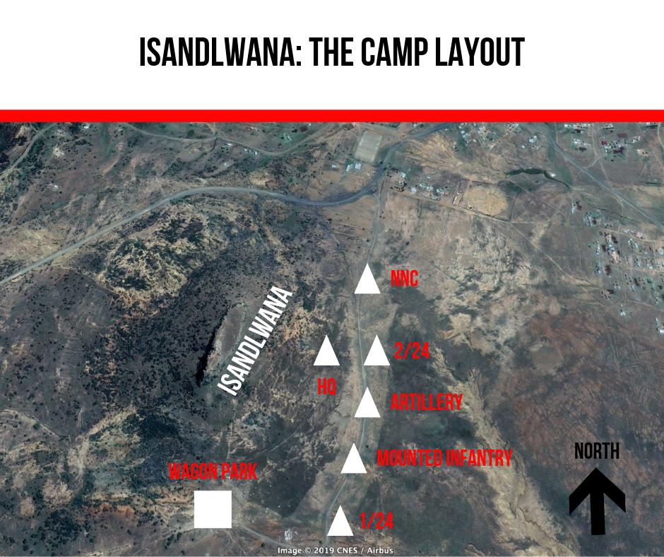 Isandlwana_ The camp layout