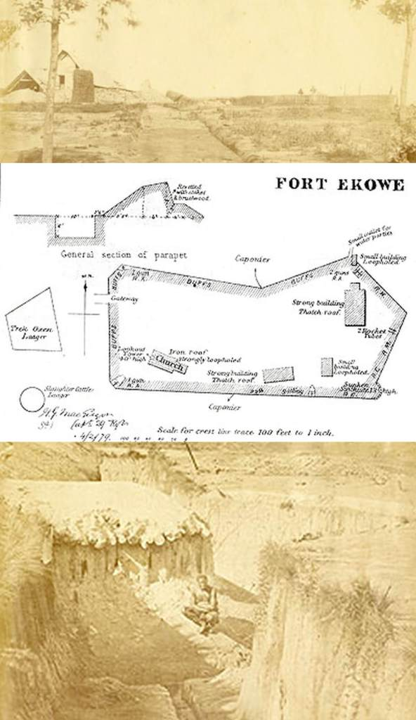 The British position at Eshowe